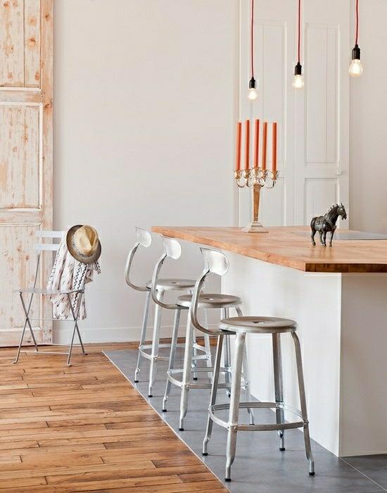 металлические барные стулья для кухни фото со спинкой