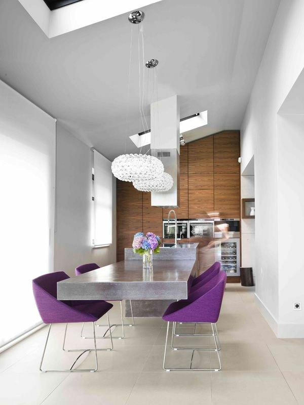 мягкие сиреневые стулья обеденные для кухни фото кресла