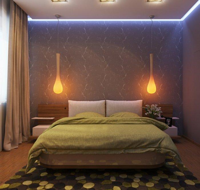 необычные светильники в спальне фото освещение
