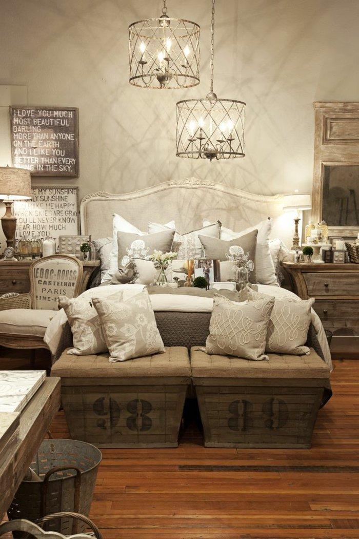 необычный интерьер спальни фото люстра своими руками