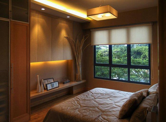 освещение маленькой спальни фото в интерьере
