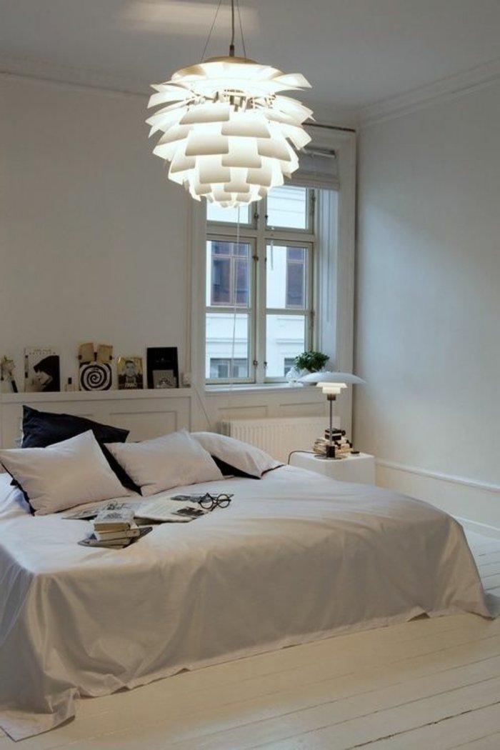 освещение в спальне современный интерьер фото люстра