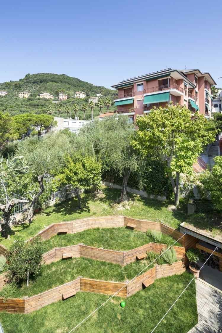 открытая терраса пристроенная современная дизайн сада фото