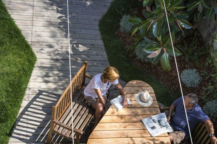 открытая терраса пристроенная стол дизайн италия фото