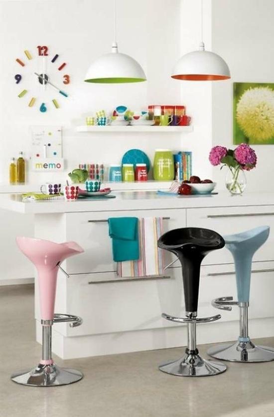 пластиковые барные стулья фото ретро