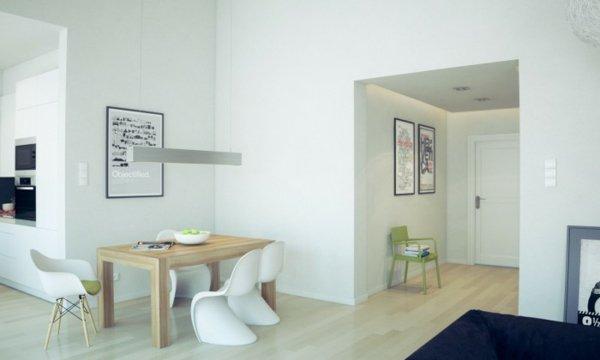 пластиковые стулья обеденные для кухни фото белые на деревянных ножках