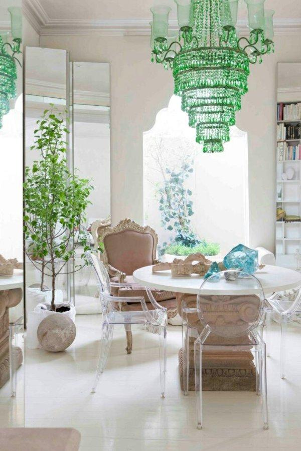 пластиковые стулья обеденные для кухни фото прозрачные и классические