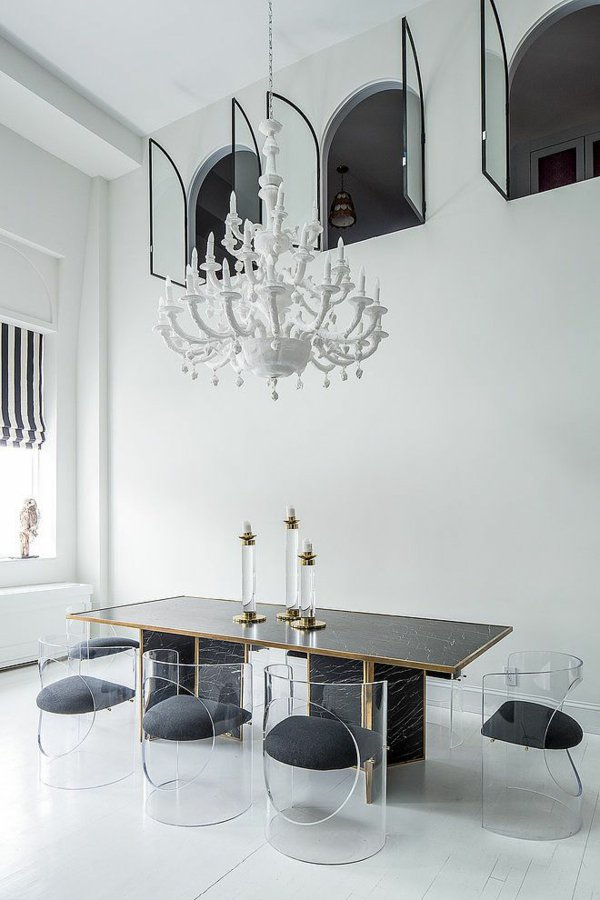 пластиковые стулья обеденные для кухни фото прозрачные мягкие