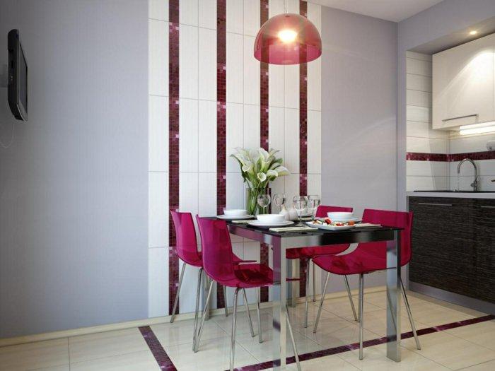 пластиковые стулья обеденные для кухни фото прозрачные розовые