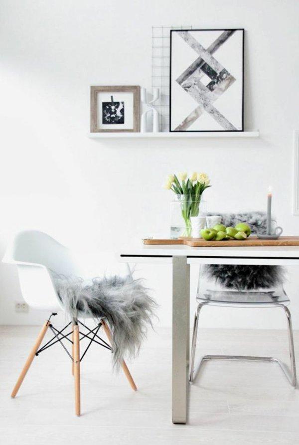 пластиковые стулья обеденные для кухни фото с накидкой