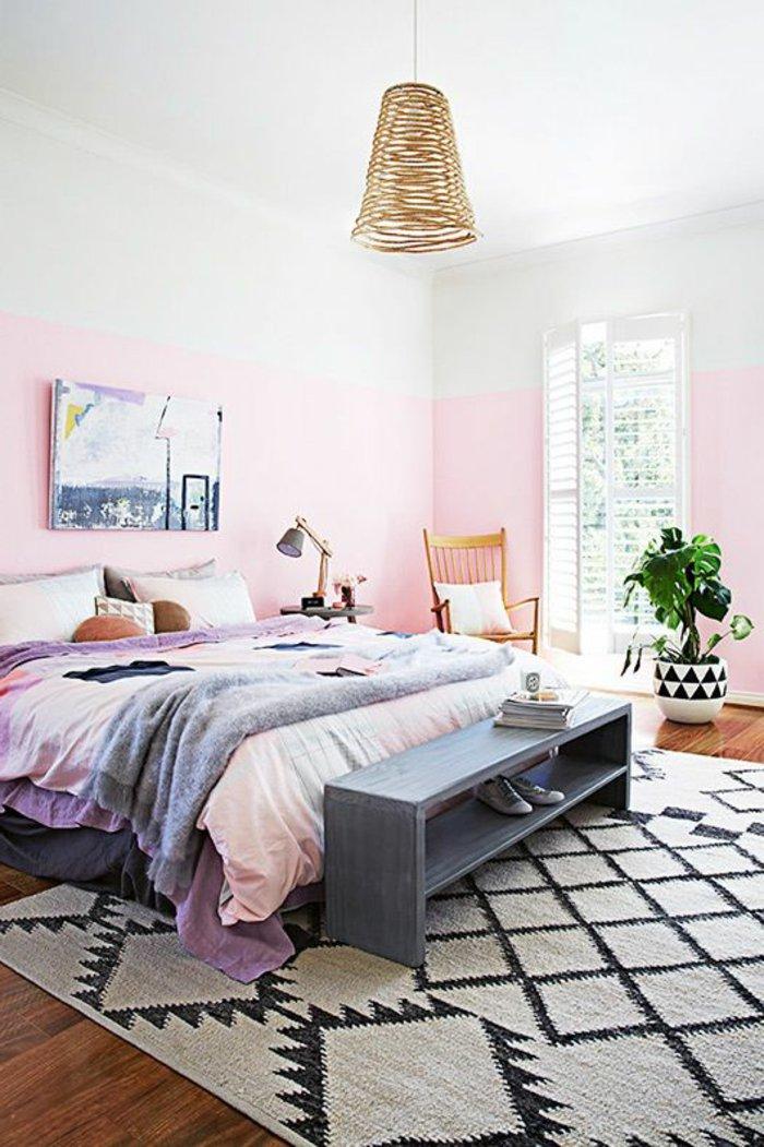 простая люстра в спальне фото освещение