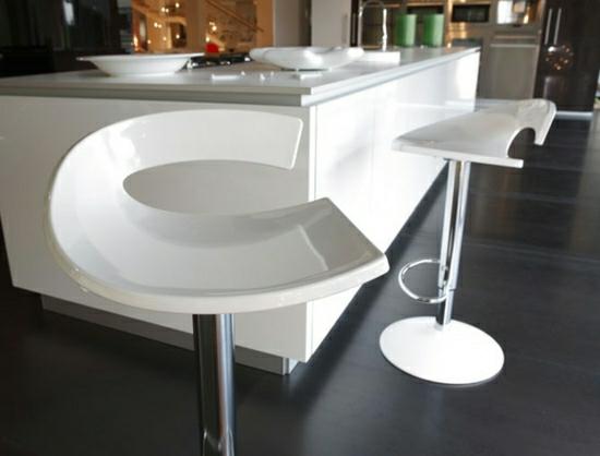 современные барные стулья фото белые пластиковые