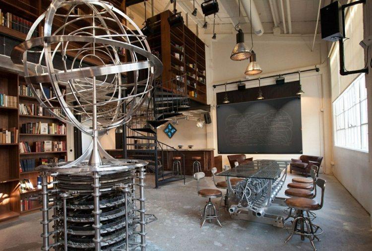 стиль стимпанк интерьер фото мебель