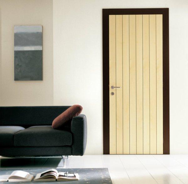 стильная межкомнатная дверь фото контрастная