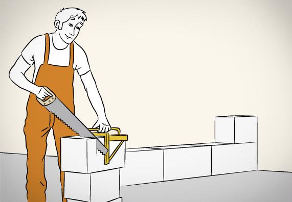 технология кладки блоков ячеистого бетона фото монтаж стен