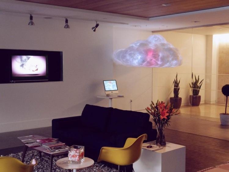 diy облако лампа своими руками бело-розовое декорирование