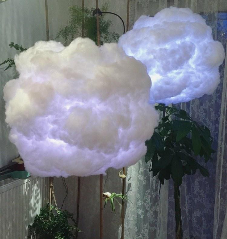 diy облако лампа своими руками голубой свет инструкция