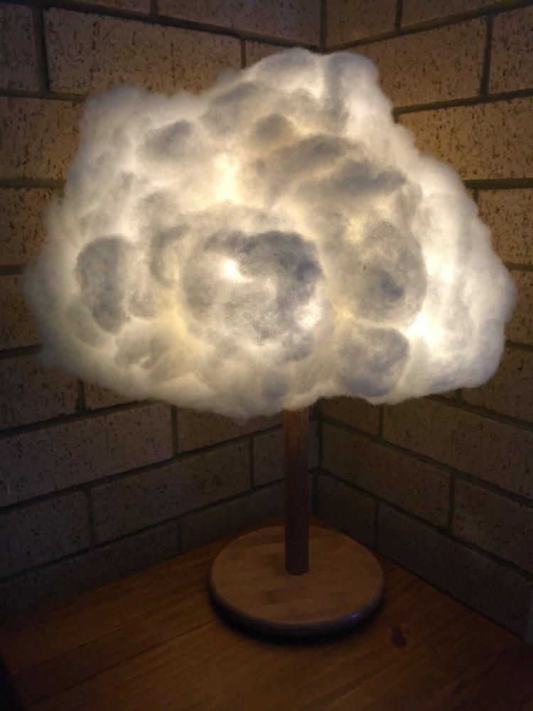 diy облако лампа своими руками на ножке инструкция пошагово