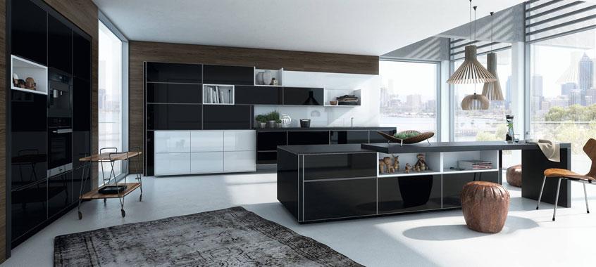 дизайн черной кухни фото интерьер