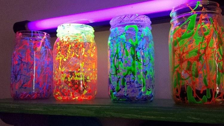 флуоресцентные краски декорирование фото интерьер дизайн