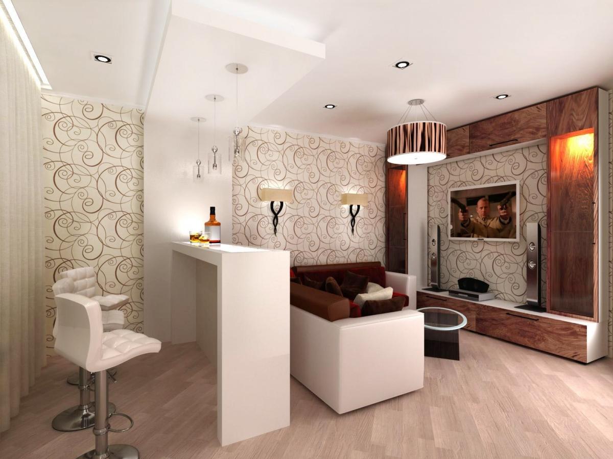 гостиная в стиле арт-деко в интерьере дизайн барная стойка