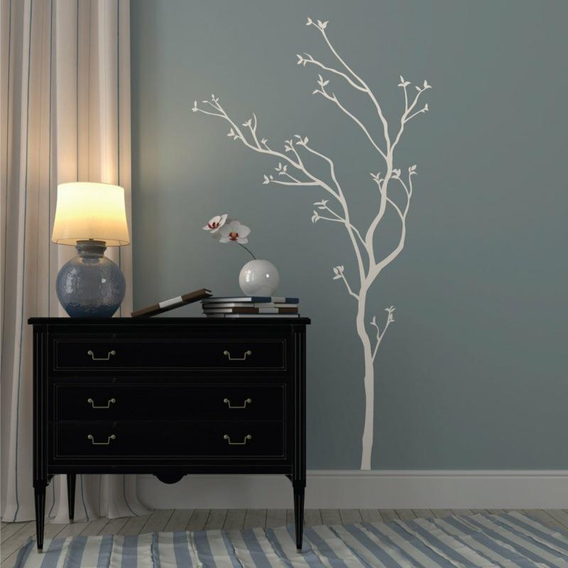 идеи дизайна коридора фото серые крашеные стены дерево наклейка