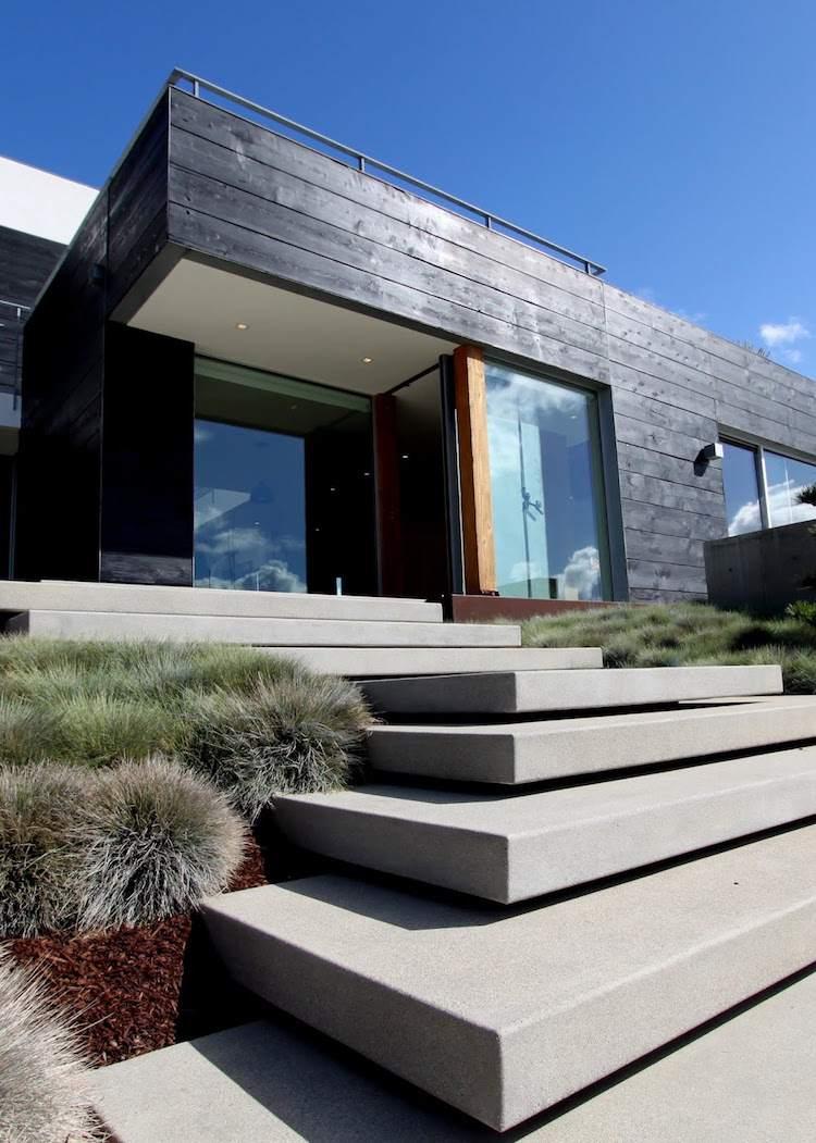 идея бетонной садовой лестницы своими руками современный стиль минимализм