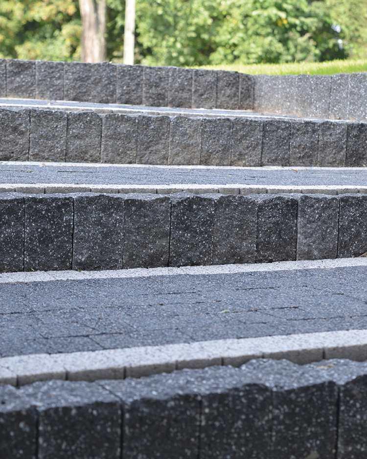 идея садовой каменной лестницы своими руками палисад серые камни