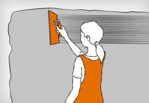 как правильно класть плитку на стену инструкция нанесение клея