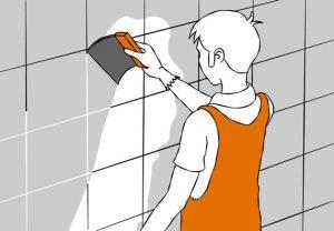 как правильно класть плитку на стену инструкция расшивка швов