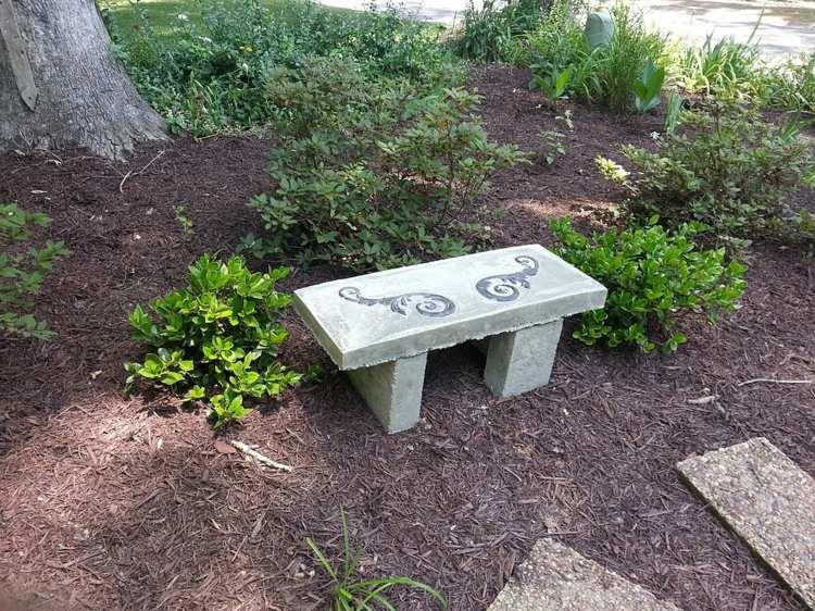 как сделать фигуры для сада своими руками фото мастер класс скамейка из цемента бетона