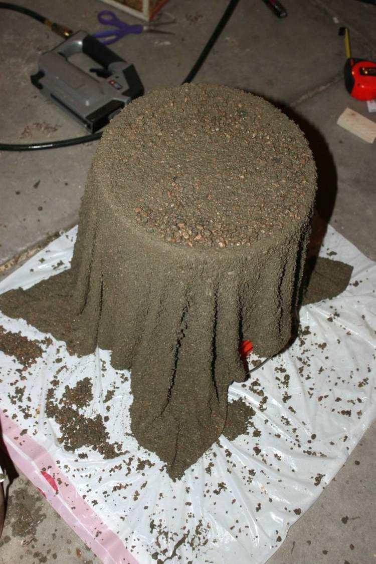 как сделать горшок для цветов для сада своими руками из цемента бетона мастер класс