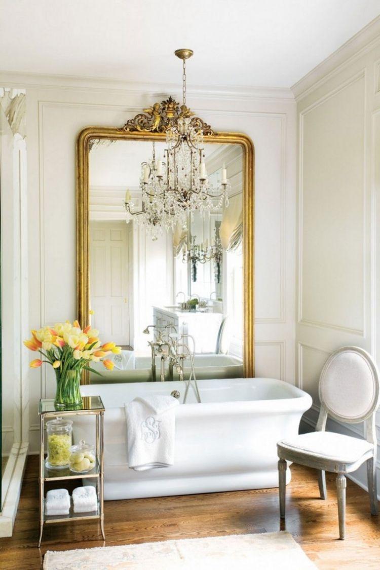 комната ванная ретро стиль фото фарфор зеркало барокко