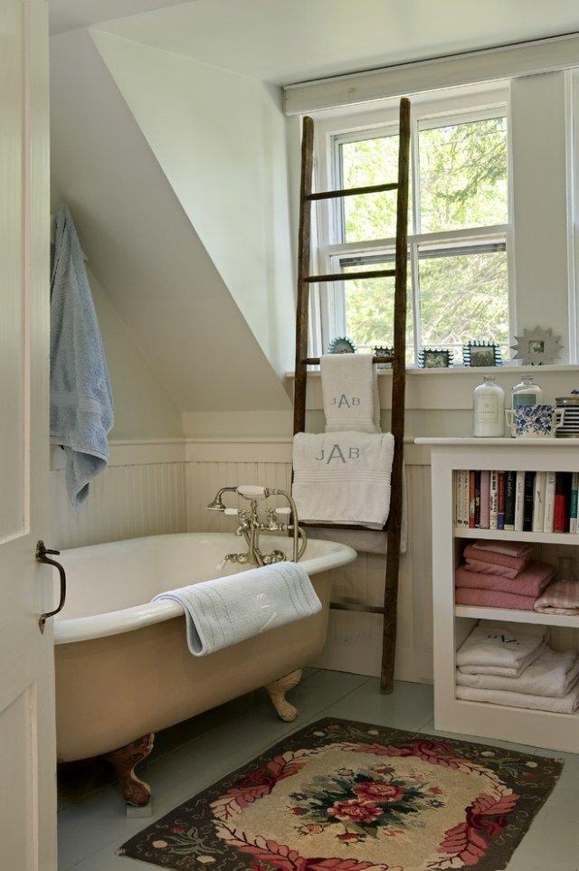 комната ванная ретро стиль фото смеситель коврик