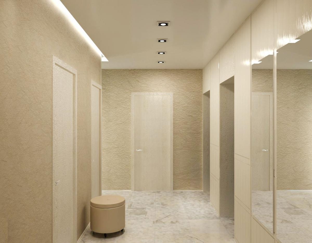 коридор прихожая в стиле арт-деко в интерьере дизайн