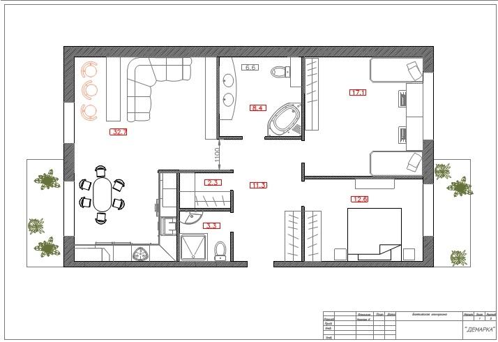 квартира в стиле арт-деко в интерьере дизайн проект