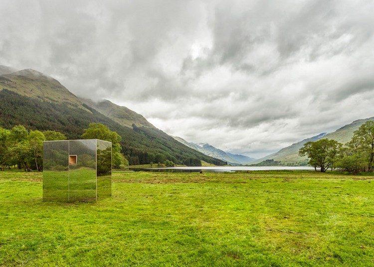 современный фасад зеркальный фото отражение неба природы