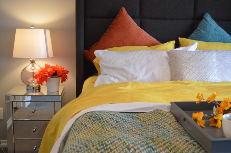 Современные идеи дизайна спальни 2016 фото цвета