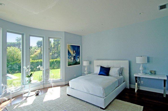 Современные идеи дизайна спальни 2016 фото голубые тона