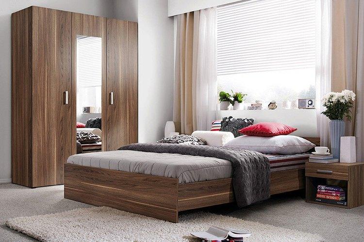 Современные идеи дизайна спальни 2016 фото шторы жалюзи натуральная мебель