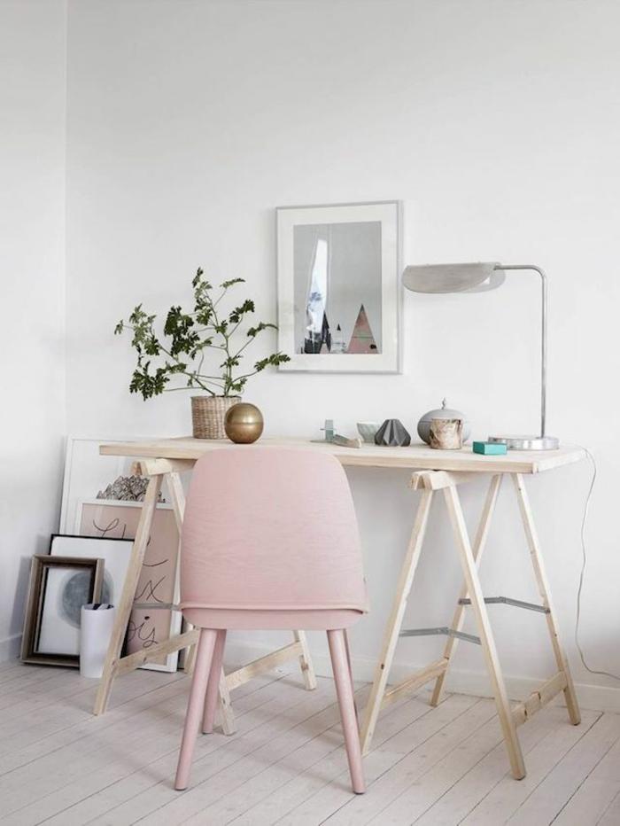 белый розовый цвет в интерьере фото кабинет сочетание