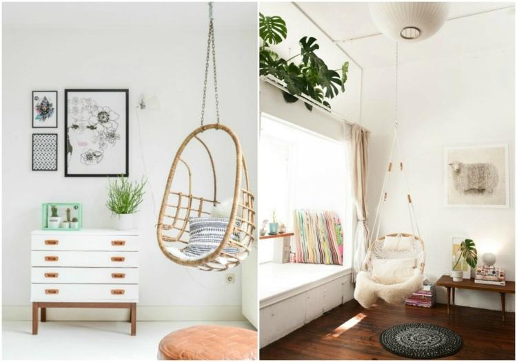 как оформить угол в гостиной фото подвесное кресло