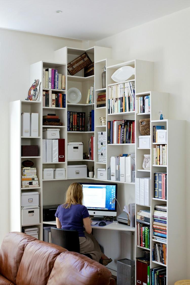 как оформить угол в гостиной фото рабочее место кабинет