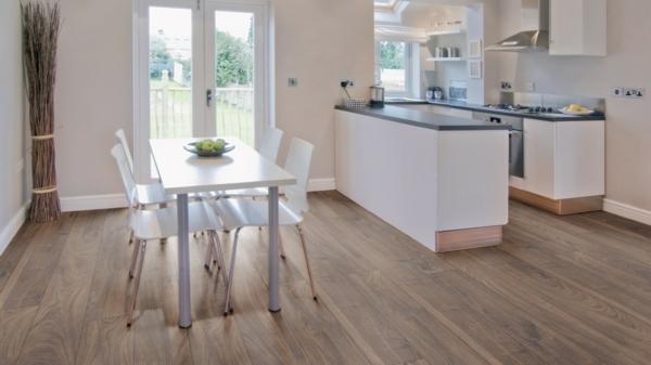 ламинат в интерьере кухни фото белая мебель