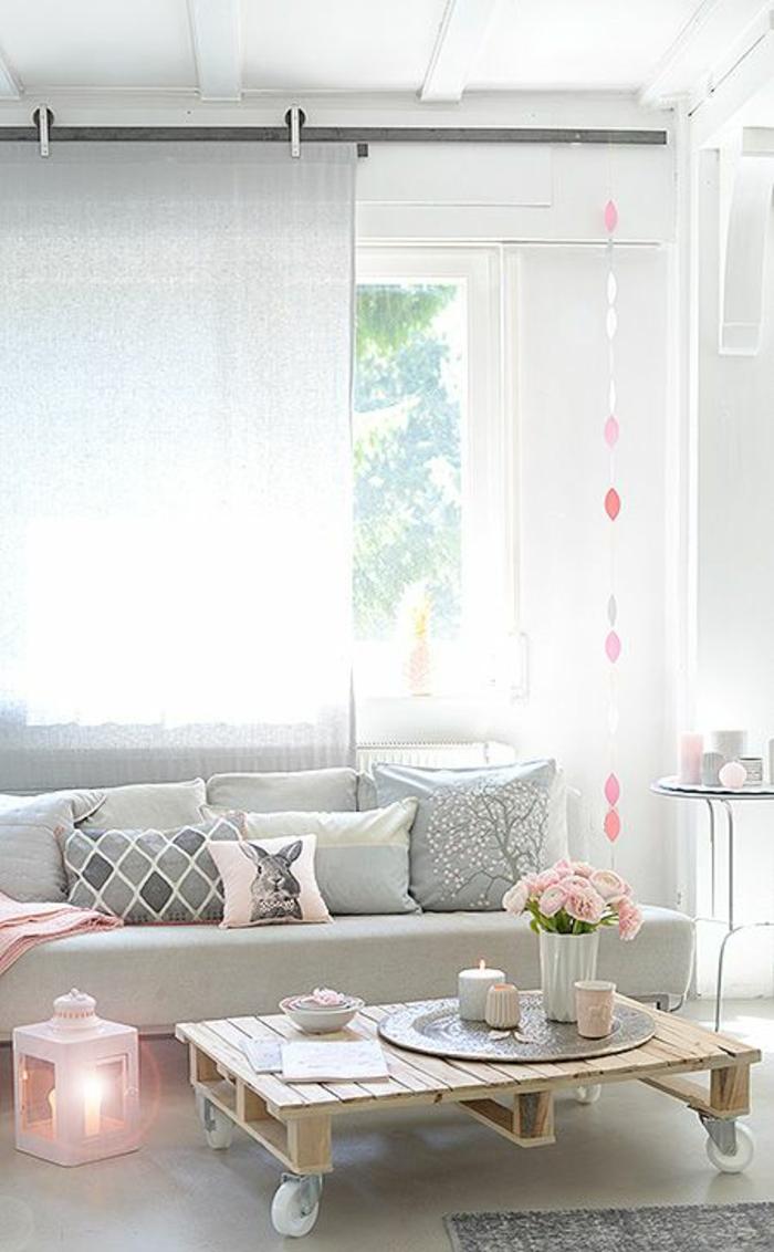 розовый цвет в интерьере фото сочетание серо розово белого
