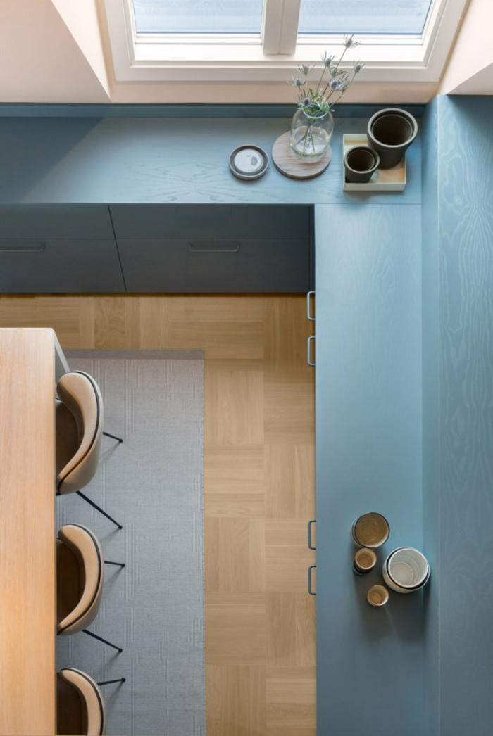 серо голубой в интерьере фото кухня