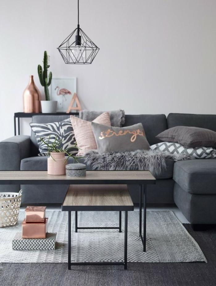 серо розовый цвет в интерьере фото диван гостиная сочетание цветов