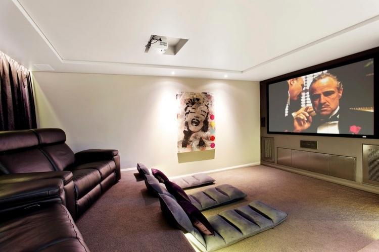 серый ковролин в интерьере фото палас на пол домашний кинотеатр