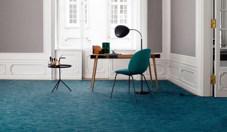 синий ковролин в интерьере фото палас на пол кабинет
