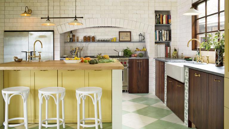 современный стиль кантри на кухне фото
